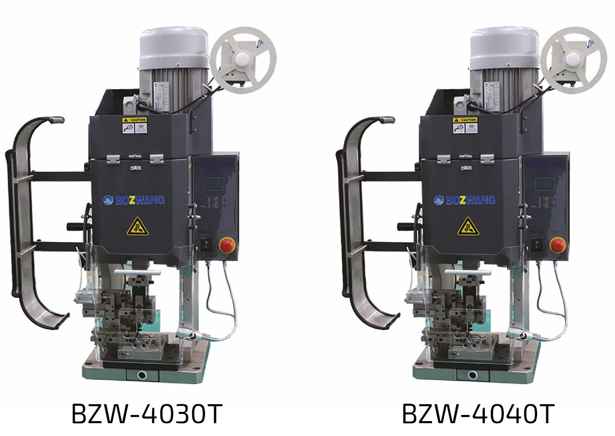 lisovací stroje pro krimpování koncovek BZW-4040T a BZW-4030T