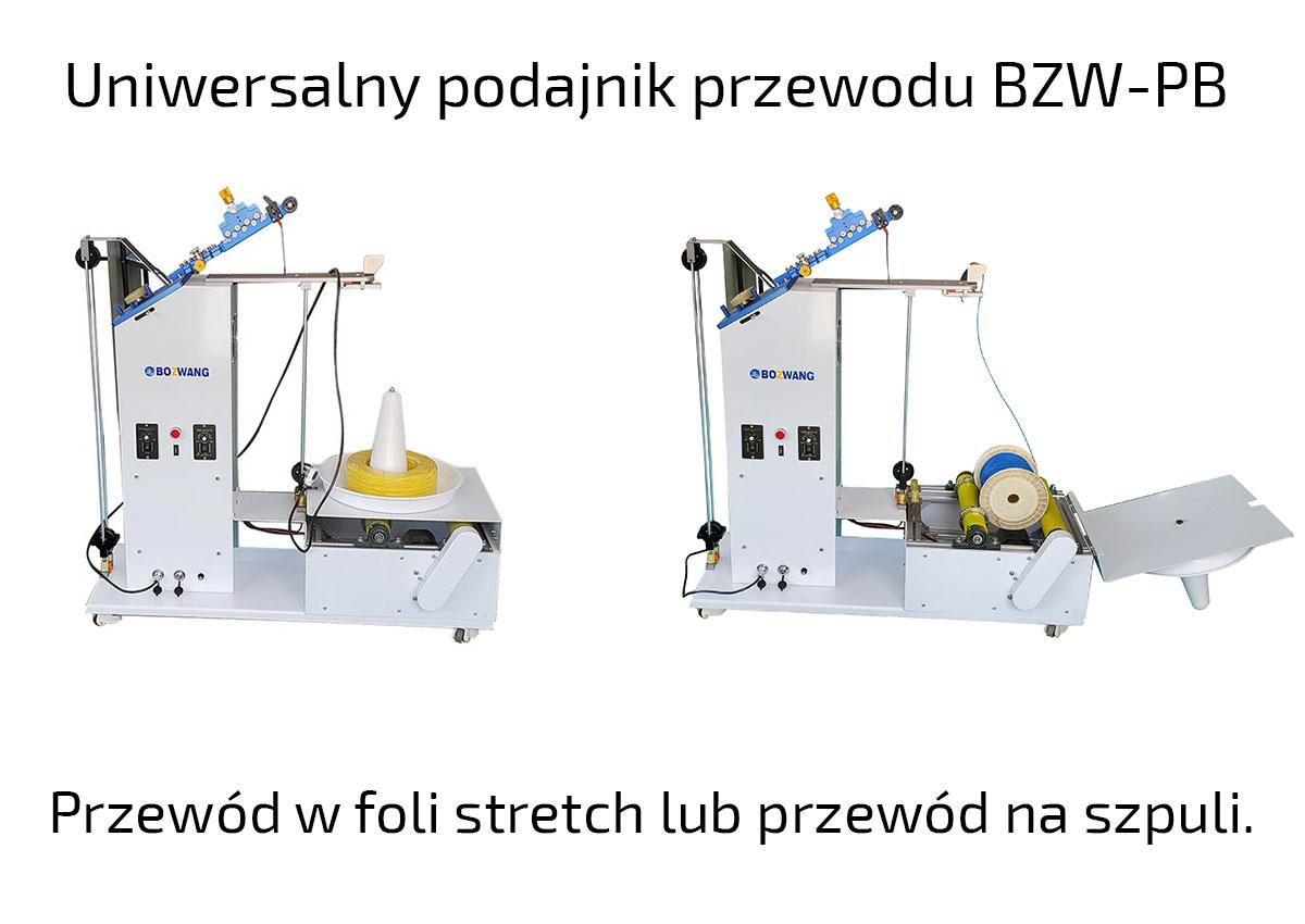 Podajnik przewodu na krążku lub przewodu w folli stretch BZW-PB